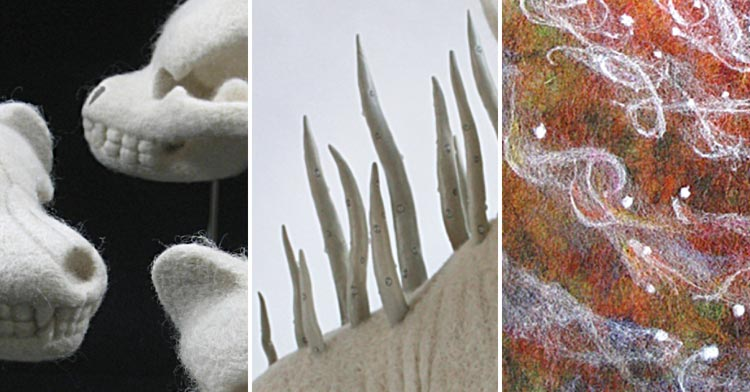 Needle felting: From factory to gallery by Kate Barsotti