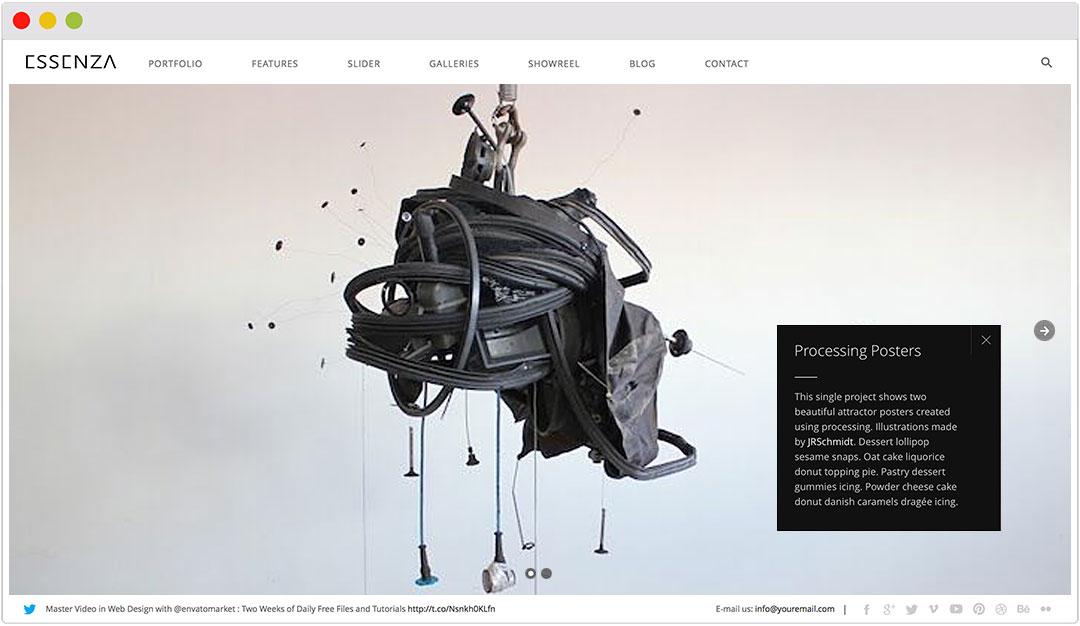 Essneza Grid Theme for artist portfolio and gallery