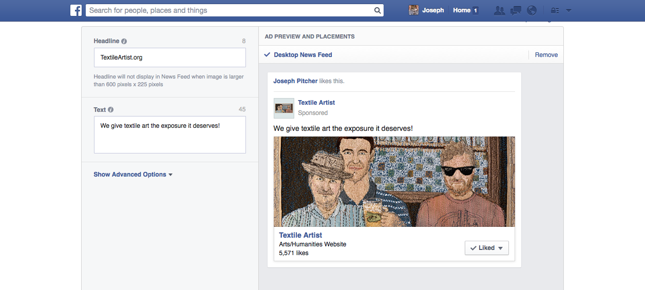 Use an eye-catching image in your Facebook ads