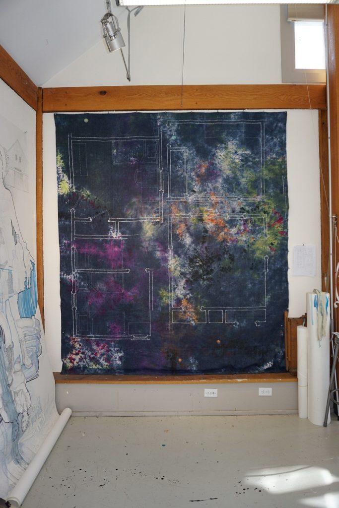 Merill Comeau: Family of Origin: Best Laid Plans. In progress at Weir Farm artist residency