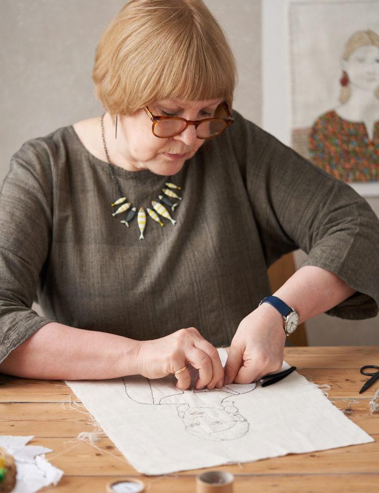 Sue Stone at work