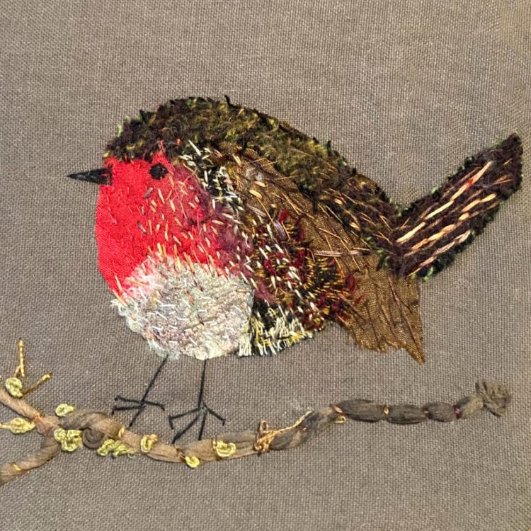 Joan Noble's piece in response to a Stitch Club workshop from Mandy Pattullo