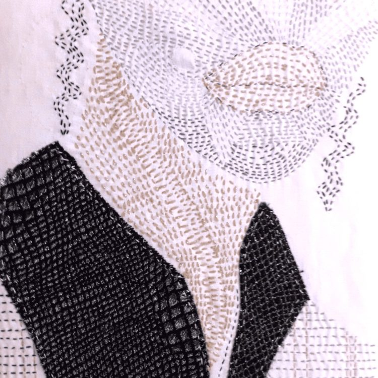 Marie Audéon's piece in response to a Stitch Club workshop from Stewart Kelly